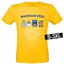 Motiv T-Shirt Shirt Wohlstand 2020 Gelb