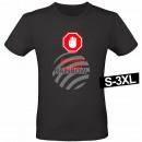 Motiv T-Shirt Shirt Abstand halten Schwarz