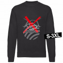 wholesale Pullover & Sweatshirts: Motif sweater sweatshirt 'No Handshake' bl
