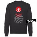 Motiv Sweater Sweatshirt 'Abstand halten' schwarz