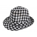 Trilby Clubstyle  hats black / white checkered.