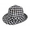 Trilby Clubstyle Hüte schwarz/weiß kariert