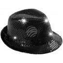 LED Trilby Hut schwarz Motiv: Club Style