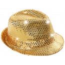 LED Trilby Hut gold Motiv: Club Style