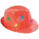 LED Trilby Hut lachs Motiv: Club Style