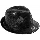Trilby hat black with sequins