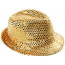 Trilby Hut gold mit Pailletten