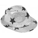Trilby Hut mit Sternen silber