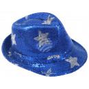 Trilby Hut mit Sternen blau