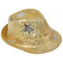 Trilby Hut mit Sternen gelb