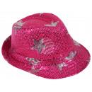 Trilby Hut mit Sternen pink