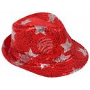 Trilby Hut mit Sternen rot