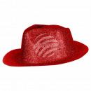 Trilby Hut glitzernd rot