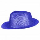 Trilby Hut glitzernd blau
