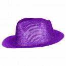Trilby Hut glitzernd lila