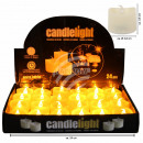 LED tealights candles round wax