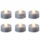 LED tealights candles round silver
