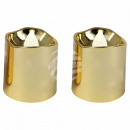 LED tealights candles round gold