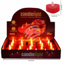 LED tealights candles heart red in the Display