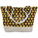 Shopper shopping bag beach bag black