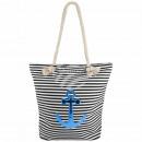Shopper Shopping Bag Beach bag black white