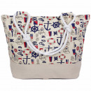 Shopper Shopping Bag Beachbag cream Maritime