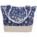 wholesale Handbags: Shopper shopping bag beach bag dark blue