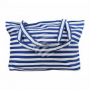 wholesale Business Equipment: Carrying case white blue stripe pattern approx. 48