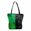 Shopper Einkaufstasche Strandtasche grün schwarz