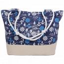 Shopper Einkaufstasche Strandtasche dunkelblau