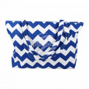 wholesale Business Equipment: Carrying case white blue zigzag pattern approx. 48