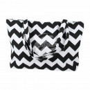 wholesale Business Equipment: Carrying case  white black zigzag pattern approx. 4