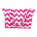 mayorista Boutiques y almacenamiento: Bolsa blanco  patrón de zigzag rosado aproximadamen