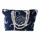 wholesale Business Equipment: Carrying bag navy blue white maritime approx. ...