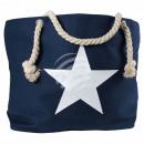 wholesale Shopping Bags: Shopper shopping bag beach bag blue star