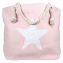 ingrosso Borse per la spesa: Stella rosa borsa da spiaggia borsa shopper