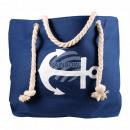 Großhandel Handtaschen: B-WARE Shopper Einkaufstasche Strandtasche blau