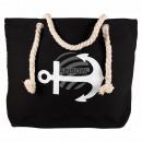 Großhandel Handtaschen: B-WARE Shopper Einkaufstasche Strandtasche schwarz