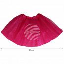 Großhandel Röcke: Tutu Petticoat Unterrock fuchsia Glitzer ca. 60 cm