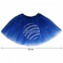 Tutu Petticoat Unterrock dunkelblau blau Glitzer