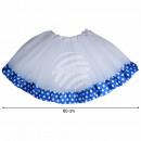 Tutu Petticoat Unterrock weiß blau Bordüre weiß