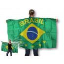 Flaggenumhang Umhängefahne Flaggen Brasilien