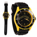 Dortmund, zwart, geel steden Horloges Silicone Wat
