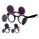 Fun Party glasses Retro foldable black