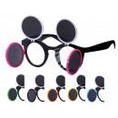 Fun Party brillen Vorm: Retro opvouwbare zwart