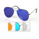 Großhandel Sonnenbrillen: Damen und Herren Sonnenbrille Flat Glass Piloten