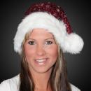 Christmas Hat Santa Hat m. Glitter bordeaux