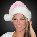 Christmas hat pink m. thick fur edge a. Velvet