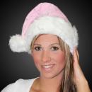 Boże Narodzenie kapelusz różowy m. grube futro Vel