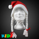 Chapeaux de Noël pour les enfants avec des tresses